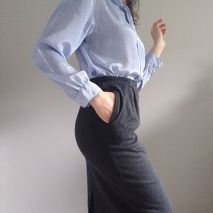Charcoal 80s Vintage Pencil Skirt w/ Pockets